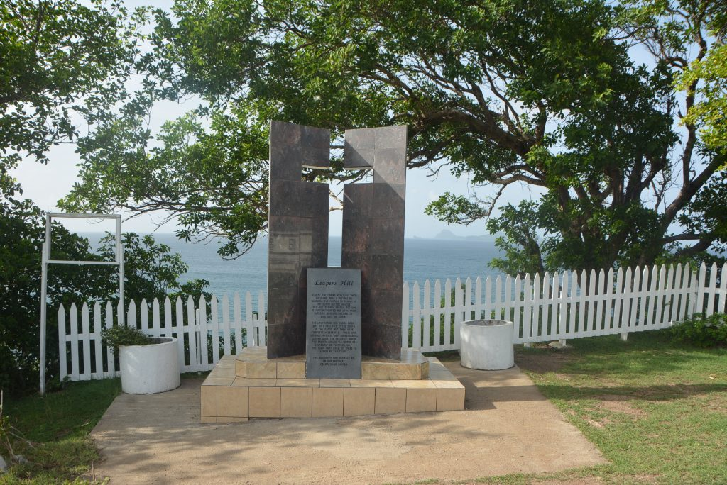 #PureGrenada: The monument at Leaper's Hill in St. Patrick's