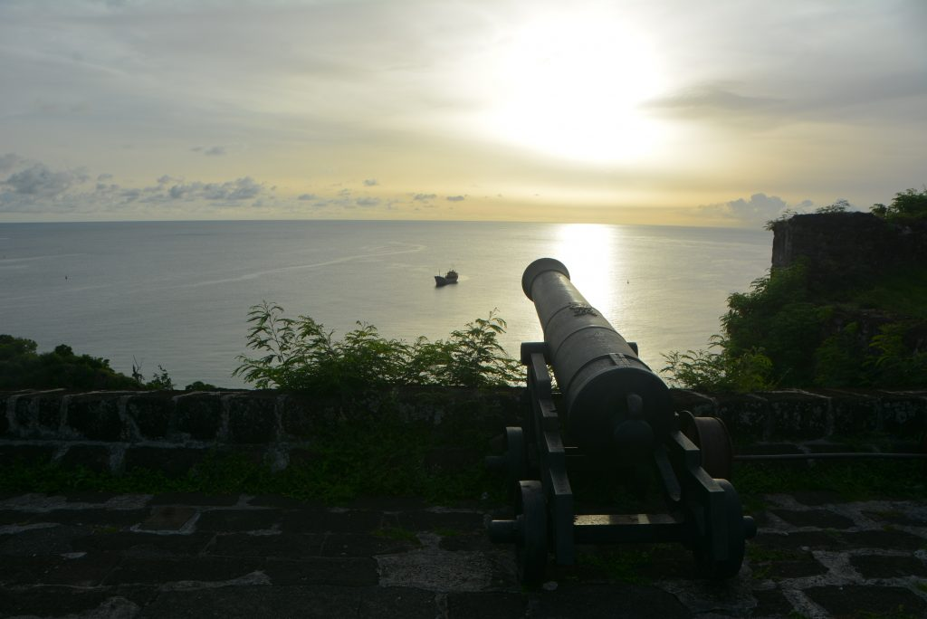 #PureGrenada: A sunset view of the Caribbean Sea from Fort George, St. George's