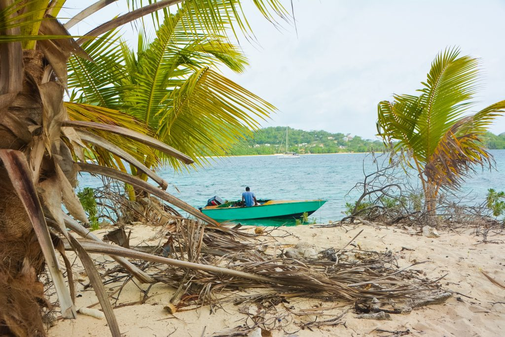 #PureGrenada: Fishing boats are never hard to find on Paradise Beach and they'll get you to Sandy Island in just a few minutes.