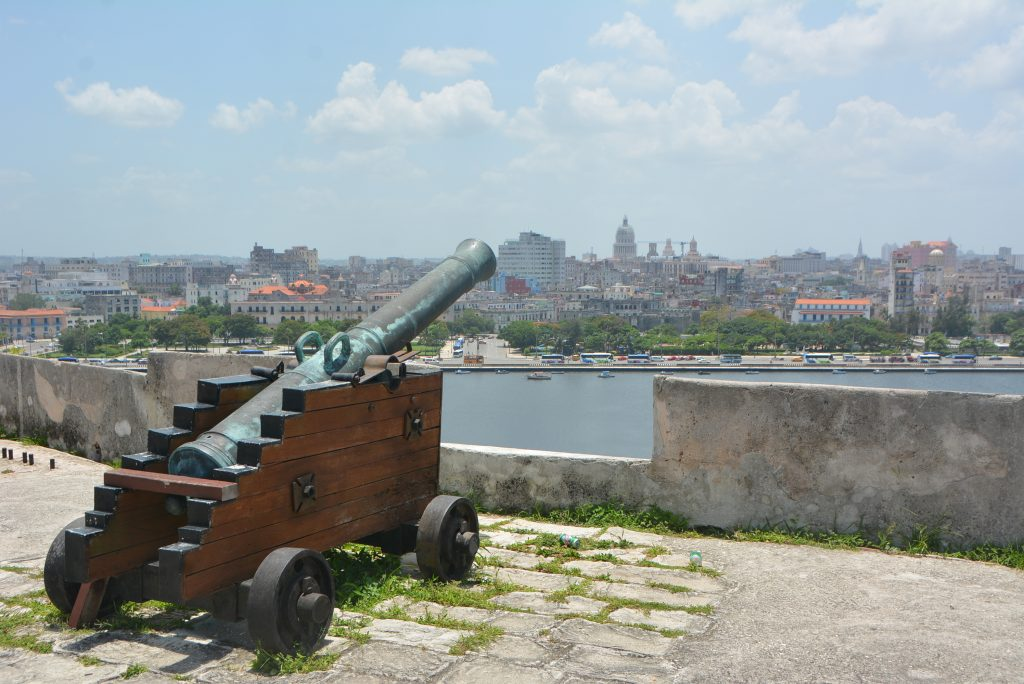 A clear view of Havana from la Fortaleza de San Carlos de La Cabana