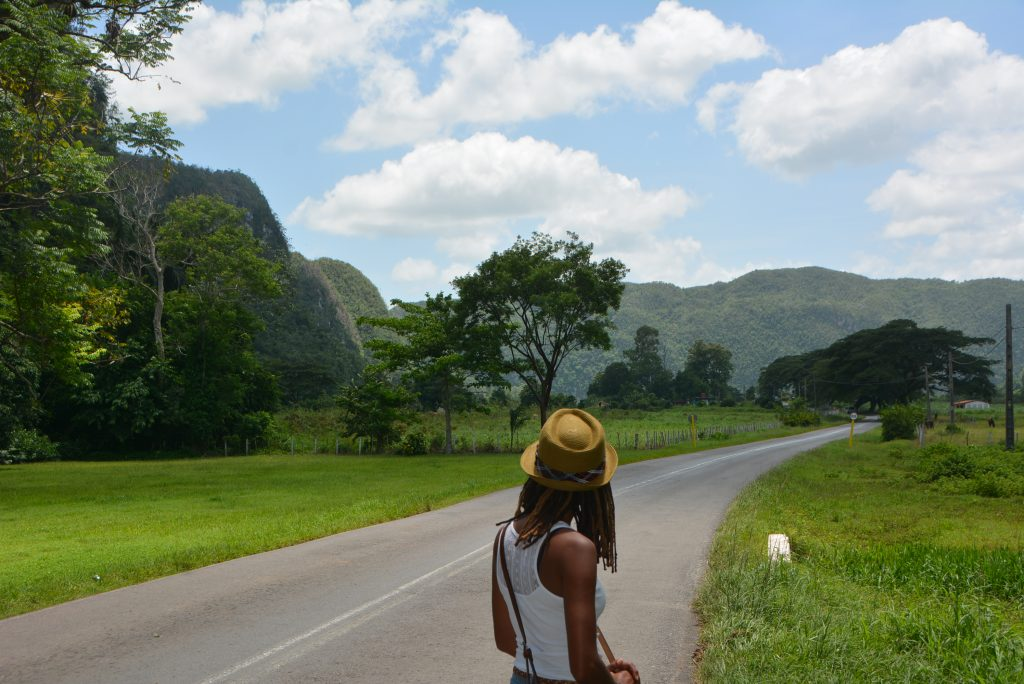 A beautiful mountain view in Vinales, Cuba.