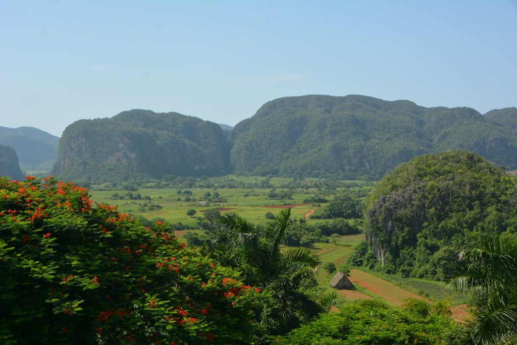 Viñales, Cuba: View of the valley from the lookout point