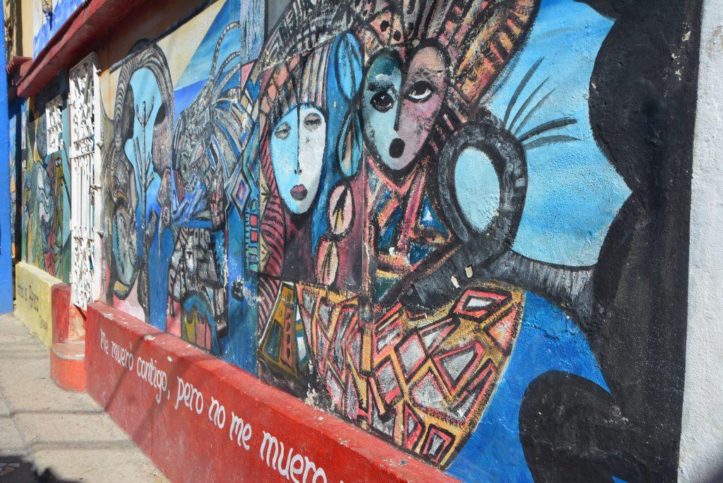 A mural at Callejon de Hamel, Havana, Cuba
