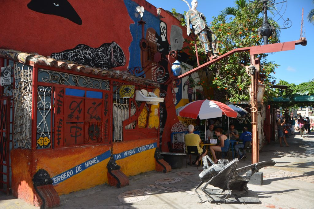 A street scene at la Callejon de Hamel in Havana, Cuba.