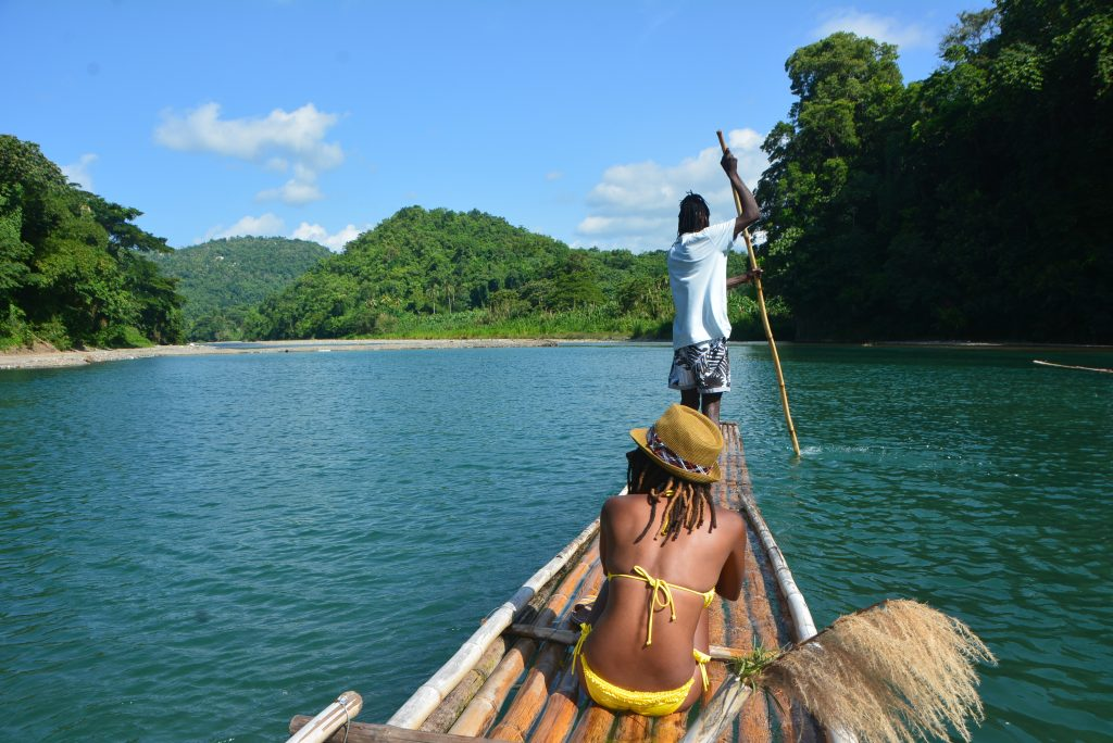 #VisitJamaica: Bamboo rafting on the Rio Grande River in Portland