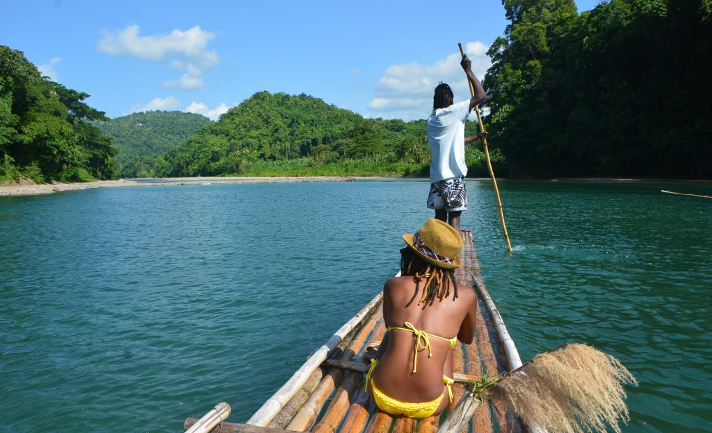 Bamboo Rafting in Jamaica