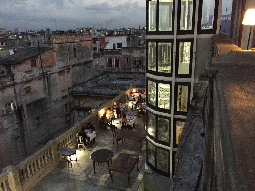 The view from the rooftop bar at La Guarida in Havana, Cuba.