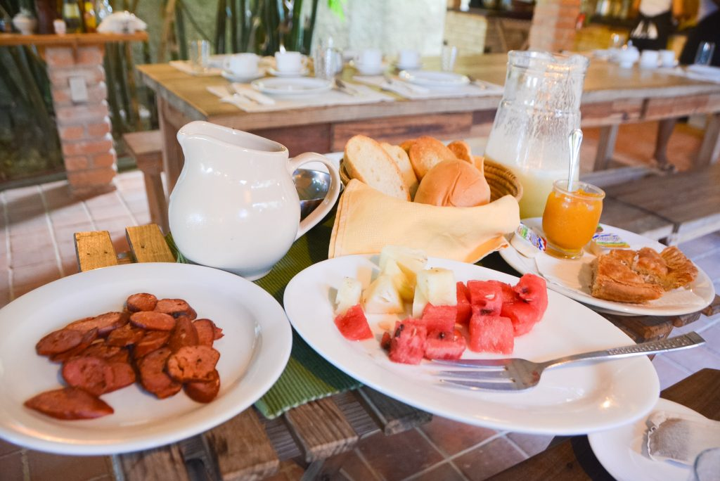 A delicious breakfast spread at La Rosa de Ortega in Cuba.