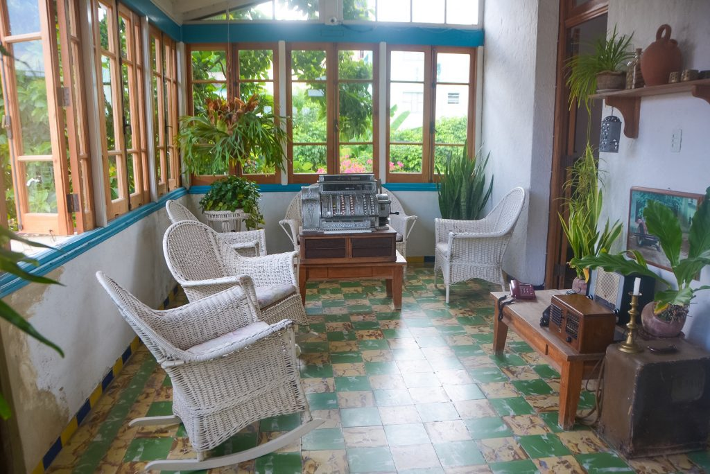 The sun room at La Casa de Ortega, Cuba
