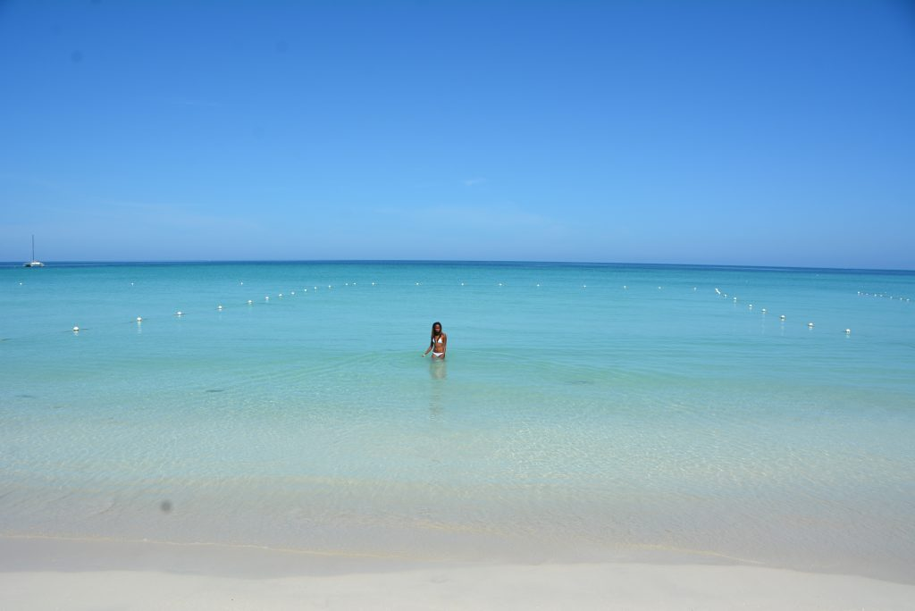 Water activities in Jamaica: All alone on 7 Mile Beach in Negril, Jamaica.
