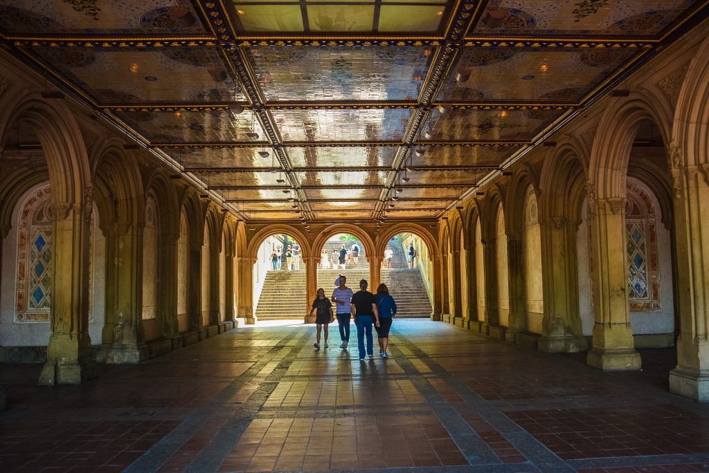 Underneath/inside the Bethesda Terrace in Central Park #NewYork
