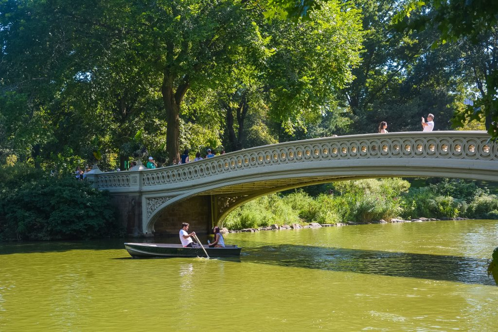 The famous Bow Bridge in Central Park #NewYork