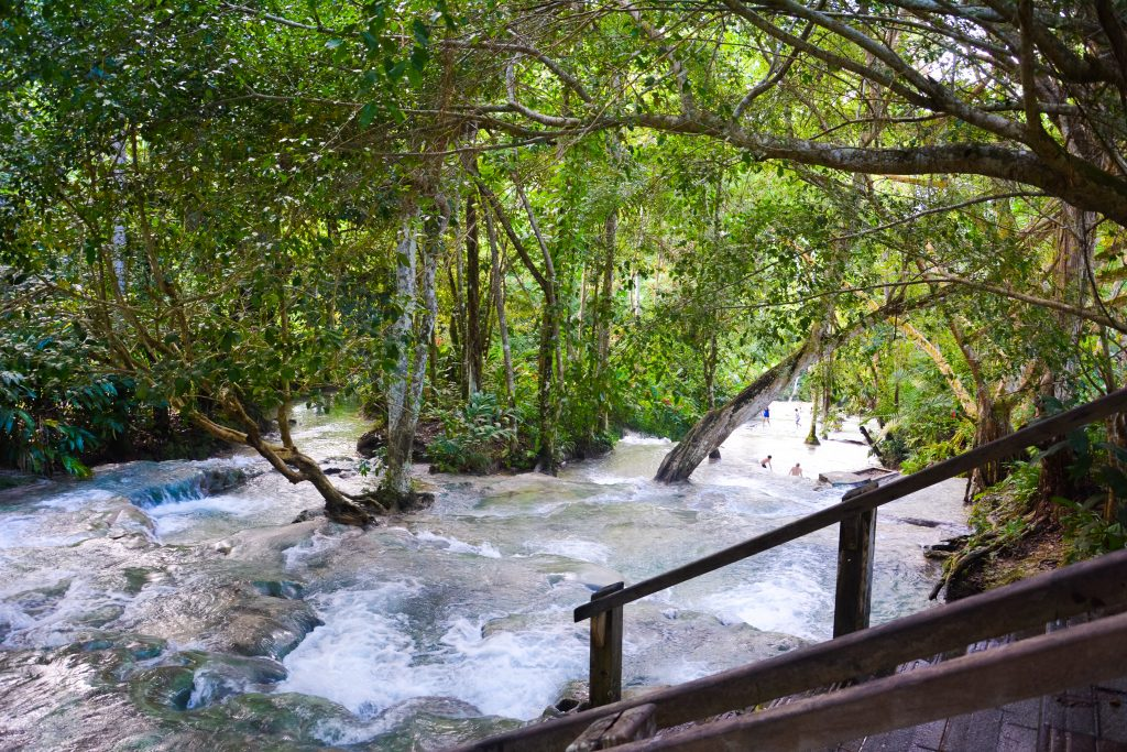 Water activities in Jamaica: Climbing up Dunn's River Waterfall in Ocho Rios