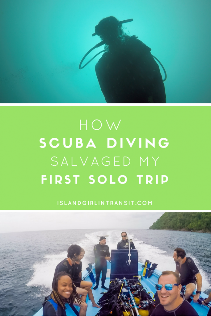 Diving in Martinique: How Scuba Diving salvaged my otherwise uneventful first solo trip.