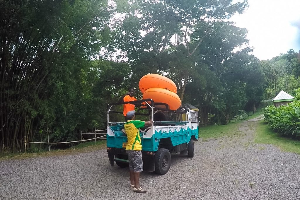 #PureGrenada: The safari jeep that transports you to and from the river tubing site