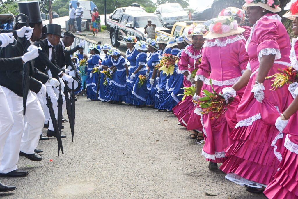 Tobago Heritage Festival: The #Tobago Ole Time Wedding procession in Moriah.