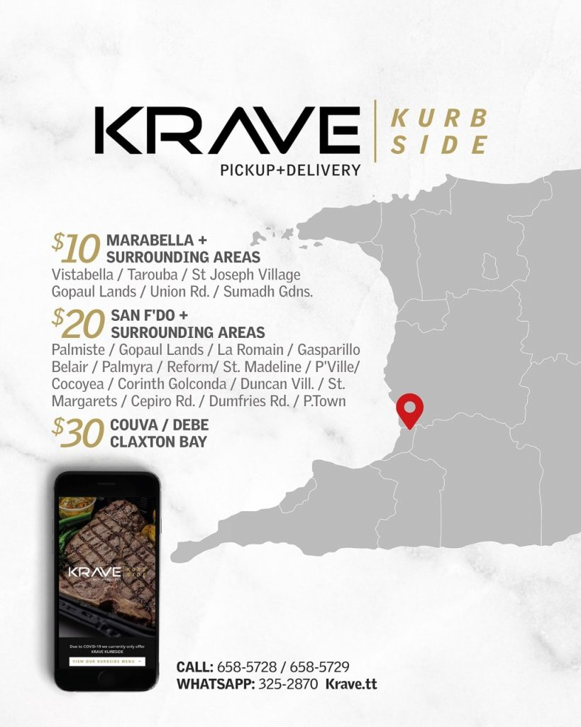 Krave food delivery Trinidad