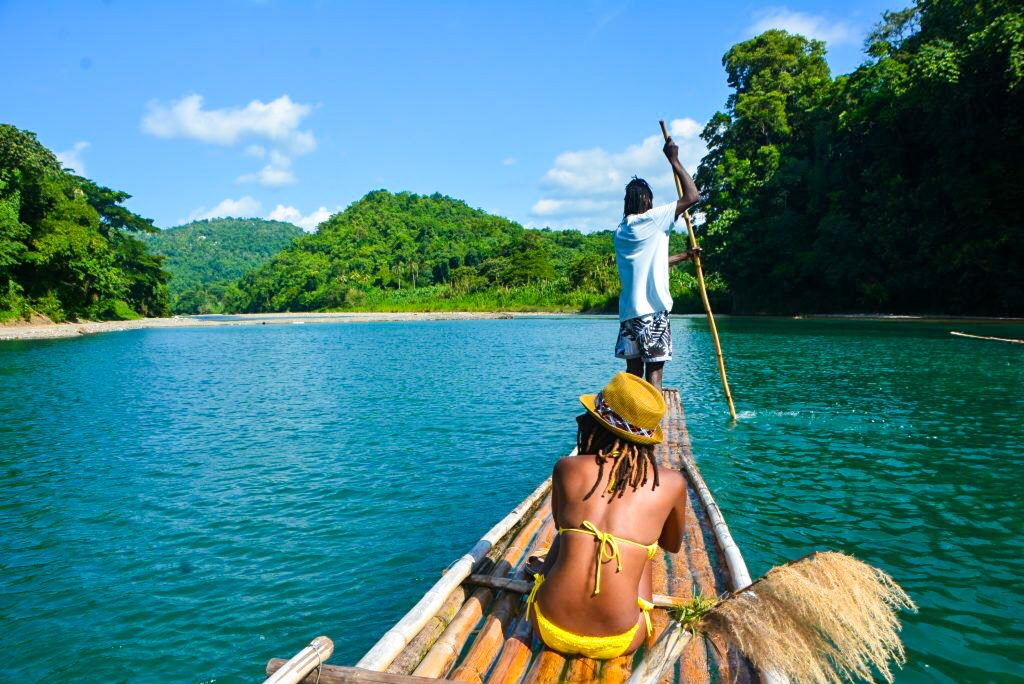 Caribbean Travel Bucket List: Bamboo Rafting Jamaica